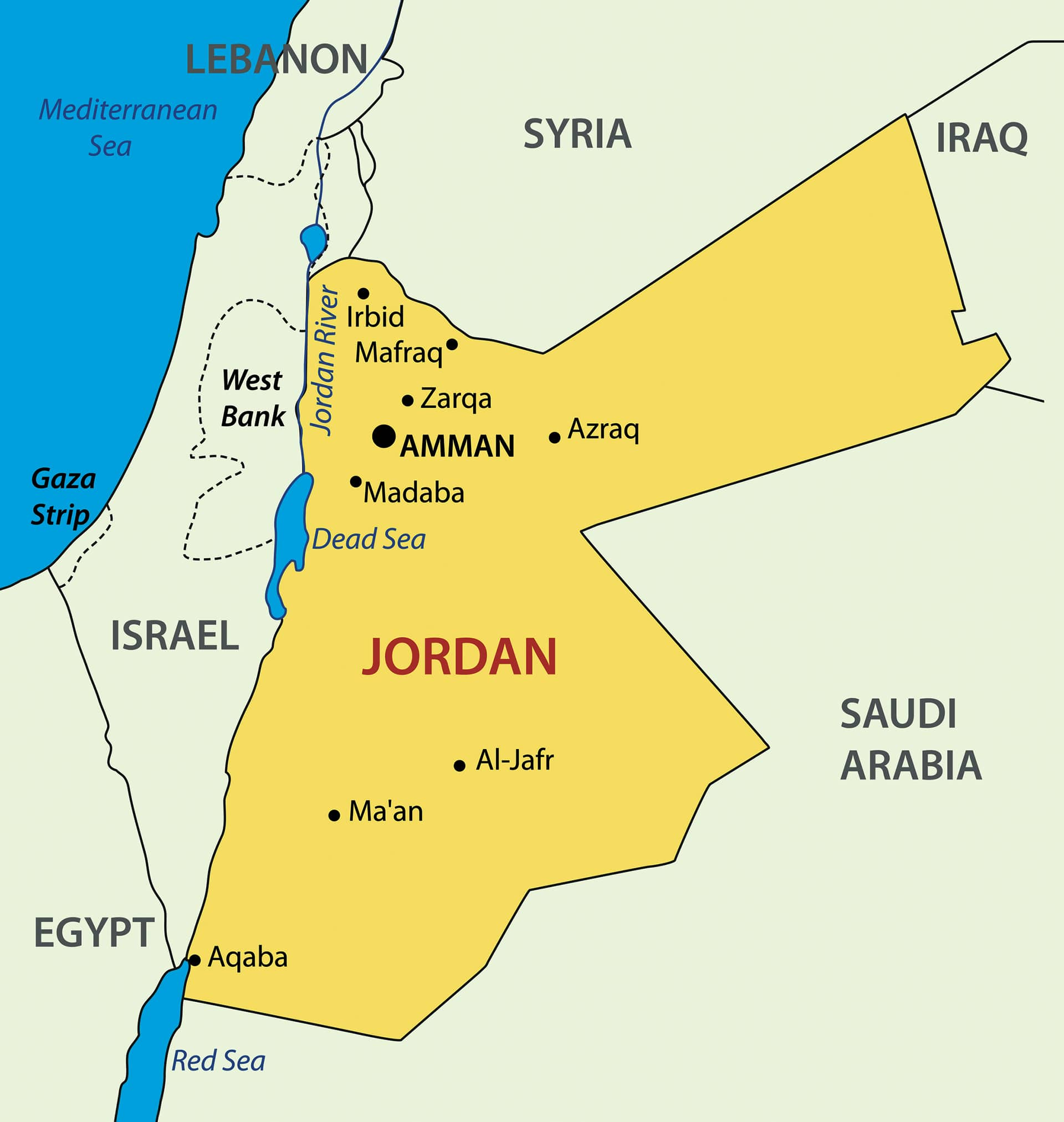 Map Jordan River © Mycolors_Dreamstime-min