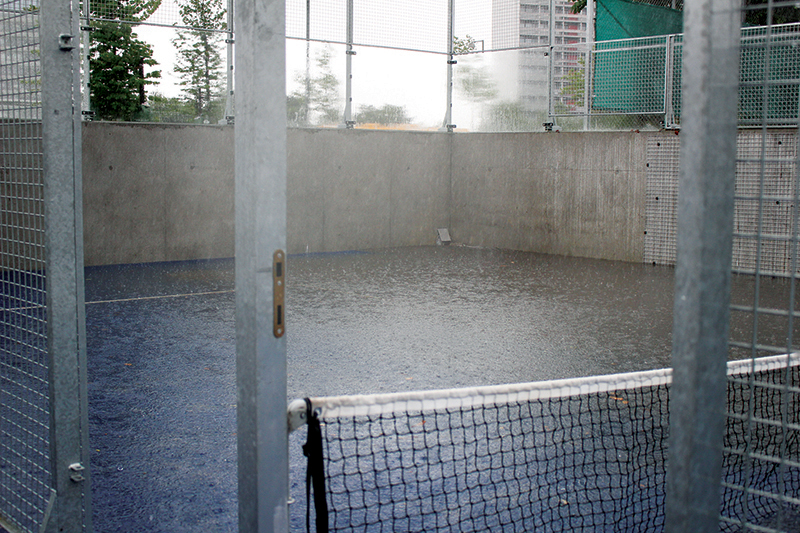 The WATER PLUS project in Gladsaxe is normally used as a paddle court but with heavy rains can also detain and store water © Christina Geer Sørensen