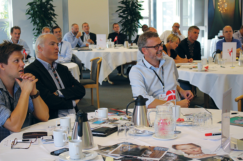 A member meeting at Billund Utility. The group was making a site visit to see the Billund Biorefinery, a project by Krüger and Billund Water © Danish Export Association